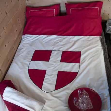 Linge de lit montagne - Housse de couette Croix de Savoie