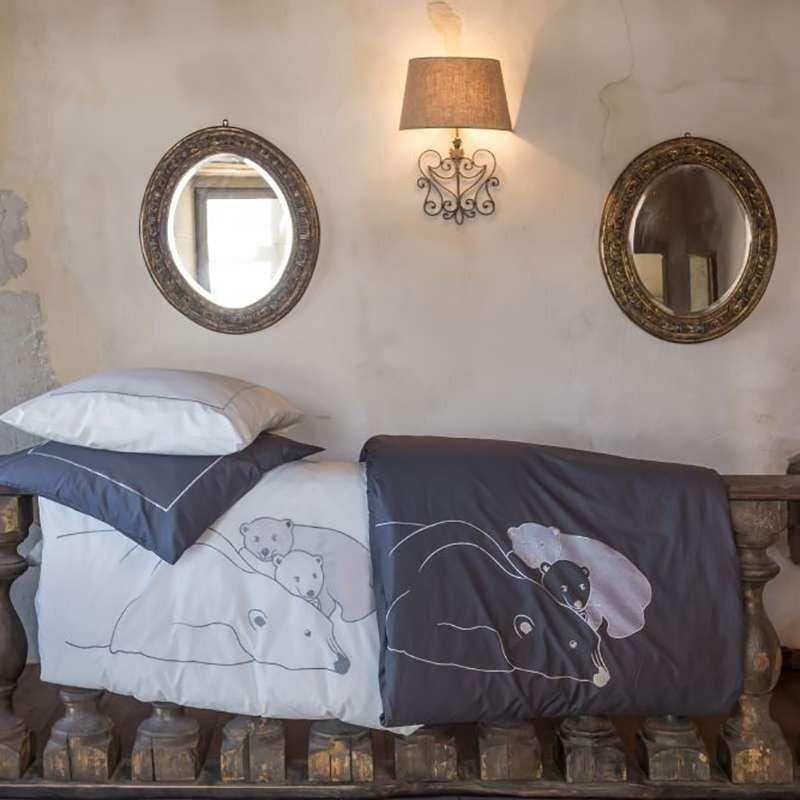 housse de couette ours blancs deco montagne. Black Bedroom Furniture Sets. Home Design Ideas