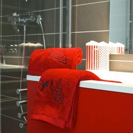 Toalla de Lavabo Skieur rojo (50X90)