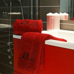 Terry towel 50x100cm with snowflake