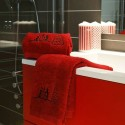 Toalla de Lavabo Bonhomme de Neige rojo (50X90)