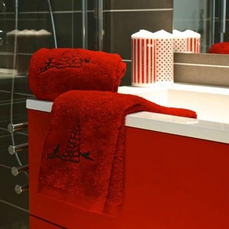 Toalla de Lavabo Luge rojo (50X90)