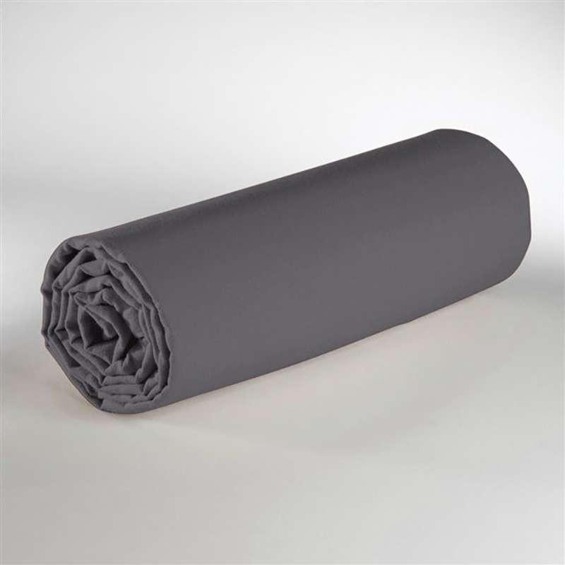 drap de dessous unie gris vagabonde. Black Bedroom Furniture Sets. Home Design Ideas