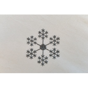 Ivory duvet cover with grey snowflakes embroidered