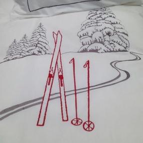 Housse de couette Bl. Trace de Ski