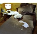 Brown duvet cover set with bear
