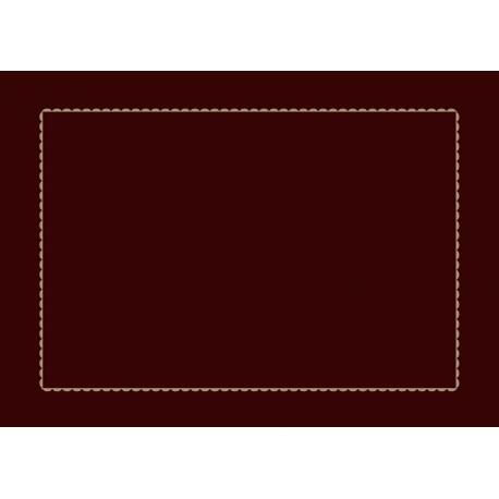 Taie d'oreiller Chocolat croquet écru 50x70cm