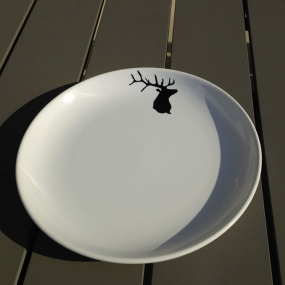 Dessert plates with deer (pack of 6)