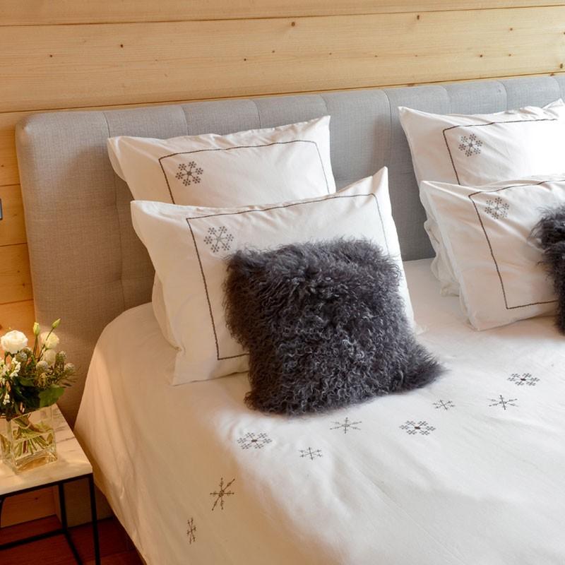 housse de couette flocon blanc vagabonde. Black Bedroom Furniture Sets. Home Design Ideas