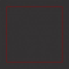 Taie d'oreiller gris brodée rouge 65x65 cm