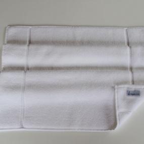 Deco scandinave - Tapis de bain Uni  Blanc 50x80cm