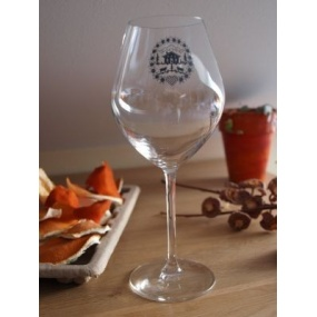 Wine tasting glasses with grey edelweiss (pack of 6)