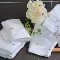 Bath towel 30x50cm with butterfly