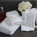 White Shower towel with butterflies 70x140cm
