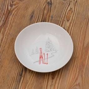 Assiette creuse ski (Pack de 6)