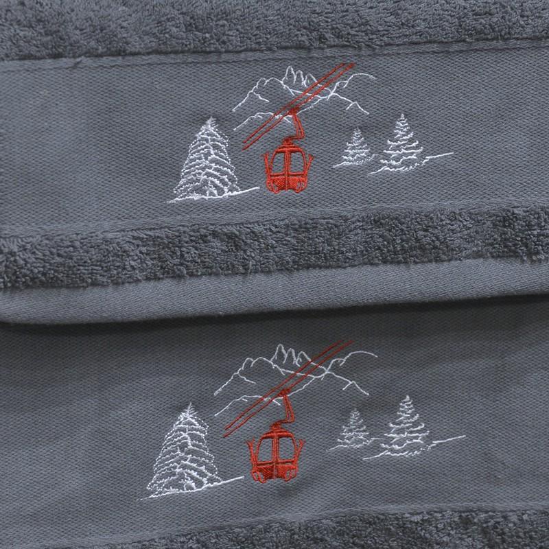 drap de douche gris t l cabine serviette 70x140. Black Bedroom Furniture Sets. Home Design Ideas