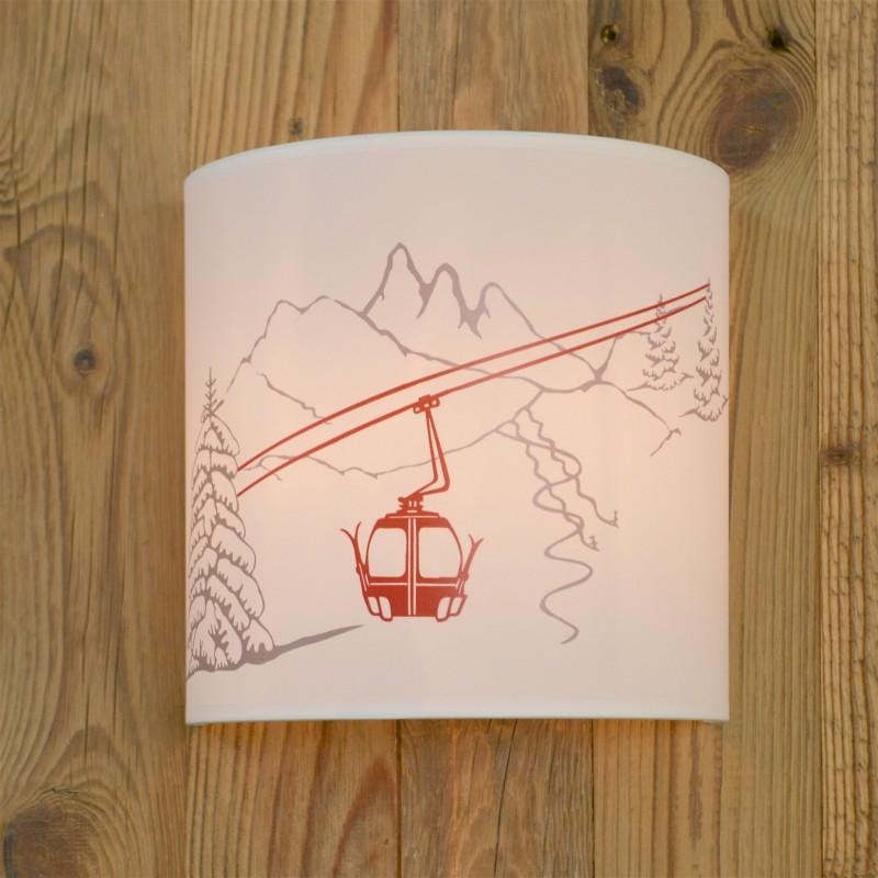 applique murale t l cabine applique murale montagne. Black Bedroom Furniture Sets. Home Design Ideas