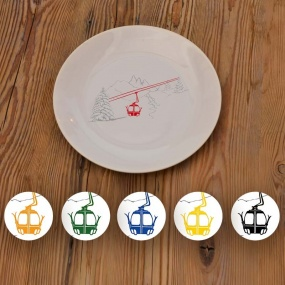 Dinner plates with Cable...