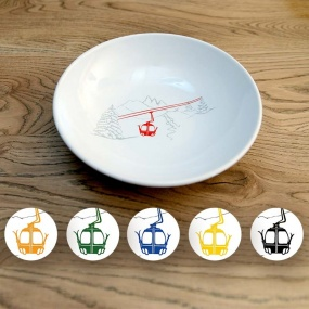 Soup Bowls with Cable car...