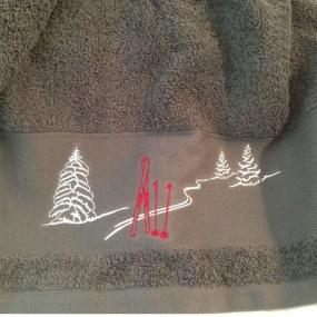 Drap de bain Gris Ski