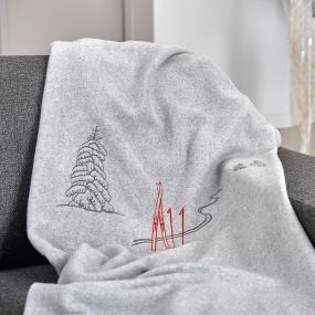 Manta Huella de esquí gris