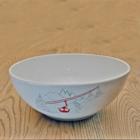 Salad Bowl with Cable car