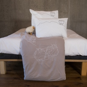 Taupe sheep duvet cover