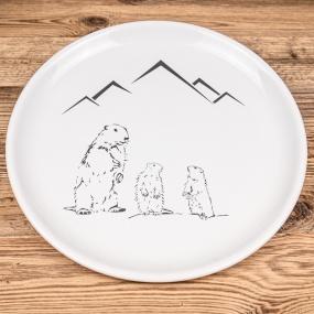 Assiette plate Marmotte...