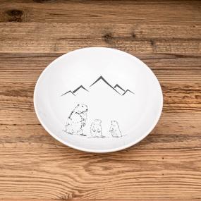 Assiette creuse Marmotte...