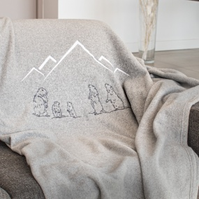 Grey Blanket with Marmots