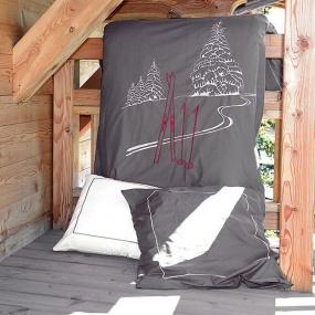 Gray Ski Trace duvet cover