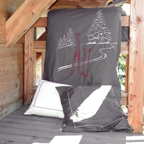 Grey Ski duvet cover