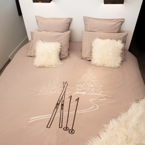 Beige duvet cover set with...
