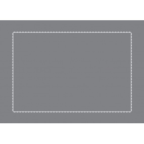 Taie d'oreiller grise liseré gris 65x100cm