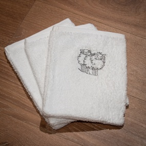 Gant de toilette mouton blanc