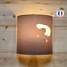 Wall light with polar bear