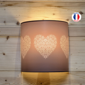 Wall light with heart flowers