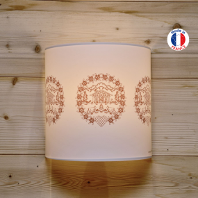 Wall light with edelweiss