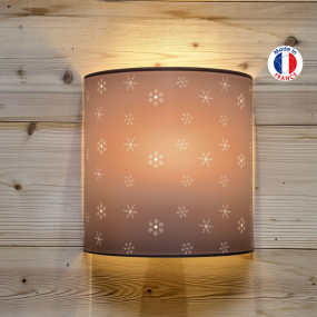 Wall light with snowflake