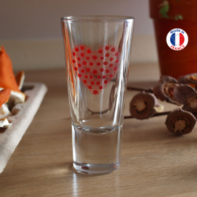 Liqueur glasses with red...
