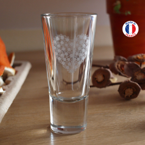 Liqueur glasses with white...