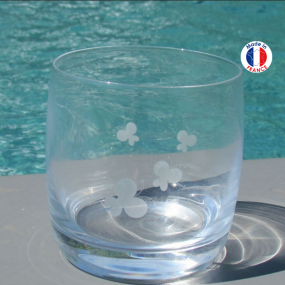 Water Glass with white...
