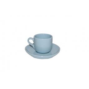 Taza para Café con Plato (Azul)