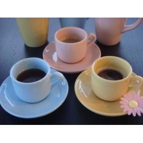 Tasse à café bleu acidulé