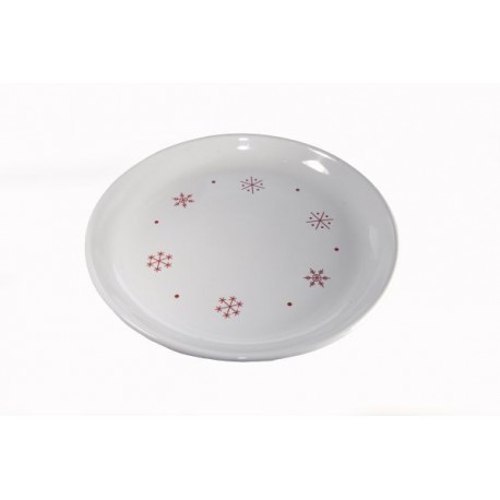 Assiette plate ronde Flocon