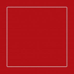 Taie d'oreiller rouge - blanc 65x65cm