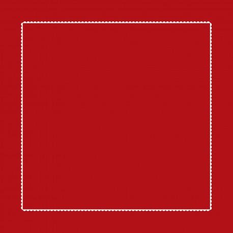 Roter Kissenbezug « Gemseduett » 65x65 cm