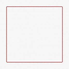 federa écru - rosso 65x65 cm
