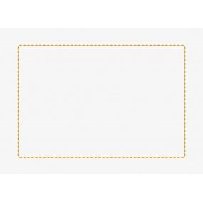 Eierschalenfarbiger Kissenbezug « Gemseduett » 65x65 cm