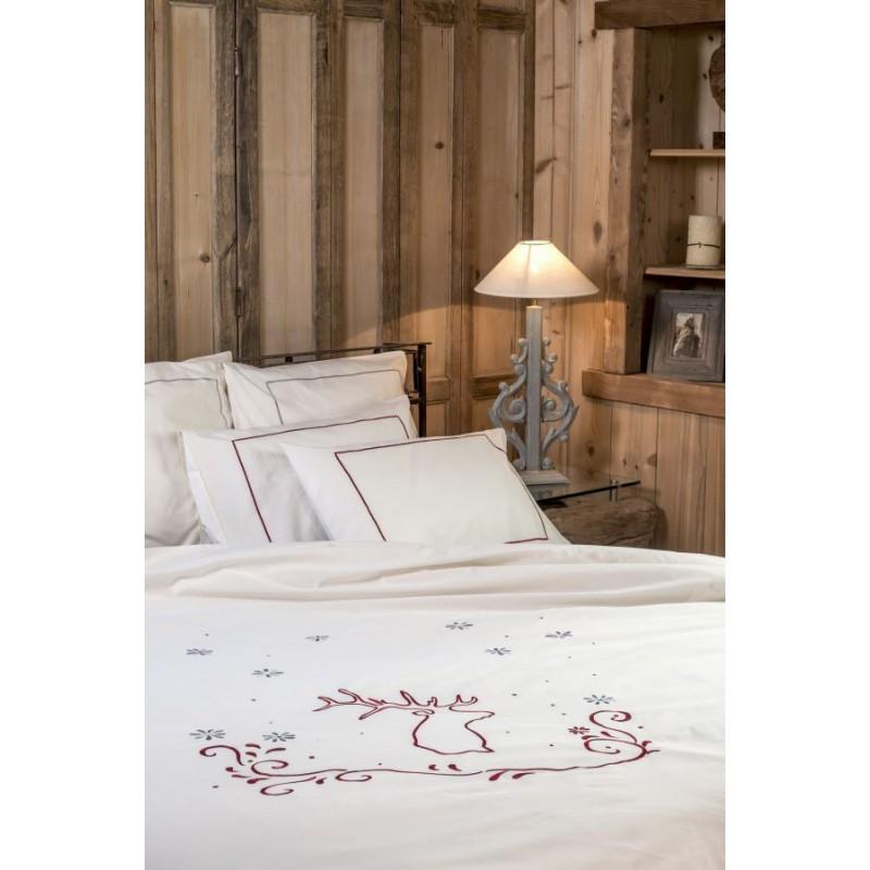 housse de couette cerf cru deco montagne. Black Bedroom Furniture Sets. Home Design Ideas